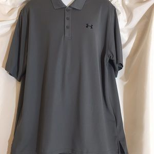 Under Armour Heat Gear XXL Grey Polo Shirt
